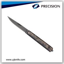 Black Blade Pattern Pocket Knife Steel
