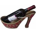 2015 yeni tasarım slipsole ayakkabı şarap şişesi tutucusu/saraya Retro ayakkabı
