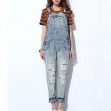 Nz7045 de corea mujeres overol de mezclilla de moda los pantalones vaqueros más nuevo de la señora trajes