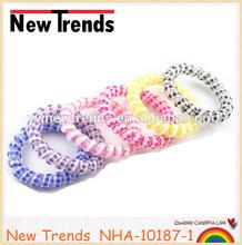 Wholesale hair elastic band, cheap phone wire hair tie