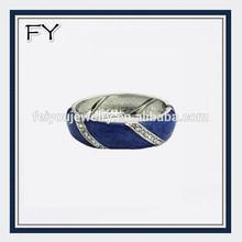 Custom hinged marbled enamel bangle bracelets for 2014 summer