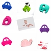 2014Chewable silicone teething toys&pendent Baby products Wooden teether