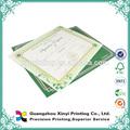Certificado de título escolar impreso y personalizado
