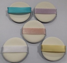 latex cosmetic sponge with ribbon