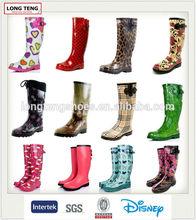 manufacturer rubber cowboy rain boots women waterproof