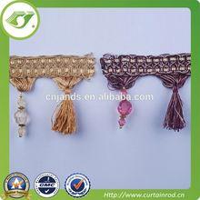 decorative mini tassel fringe,high quality French curtain lace