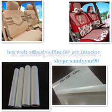 milk white pes hot melt adhesive film for car interior