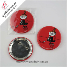 Fashion hot sale souvenirs pin tin button badge from China supplier