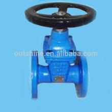 Non-rising stem resilent seated gate valve