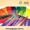 2014 caliente de la venta de celofán de colores de papel para envolver regalos
