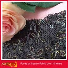 Cheap wholesale 125cm Width thick Sequin Fabric Mesh back decor tie