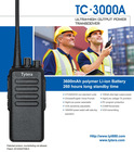 New! TYT TC-3000A taxi radio136-174/400-520 MHz 10W 3600mAh battery two antennas