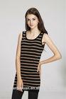 Korean slim fancy sleeveless knitting patterns sweater vest for women