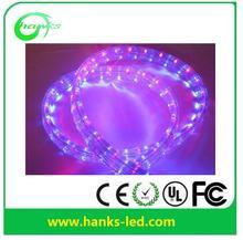 Long lifetime IP67 12v uv led rope light