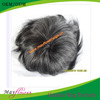 Natural hair indian men hair toupee wig with gray hair top quality