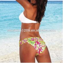 Professional printed padded push up hot sexy wholesale women's swimwear 2014