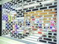 comercial de policarbonato transparente rolo porta do obturador
