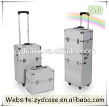 Partitionable Storage Luggage Aluminum Hairdressing Tool Box