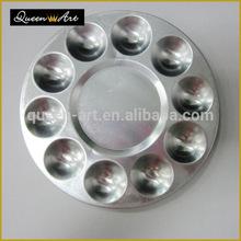 2014 de alta calidad de la ronda agujeros diez paletas de aluminio arcilla cerámica herramientas