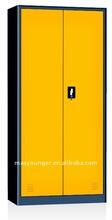 powder coating double door steel file cabinet with 180 degree open