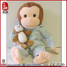 plush monkey for baby with cloth plush monkey names