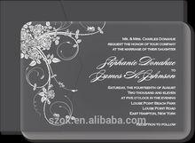 luxury design high end acrylic wedding invitations cards good sale