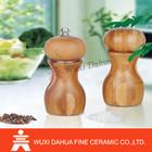 Top Quality High End gravity bamboo salt &pepper grinder.
