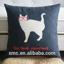 Personal custom cute cat design canvas sofa sleeping pillow
