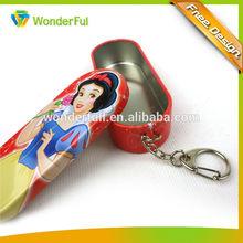 snow white princess candy box tin key chain