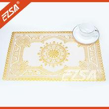 EZS Cheap Plain White Transparent PVC Decorate Square Vinyl Placemats for Restaurants