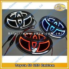 2014 Hotsale & Low price!! Customized 5D Car Emblem Toyota Emblem