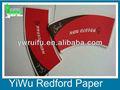 Maßgeschneiderte pe pappbecher fan, flexodruck/offsetdruck, oem service
