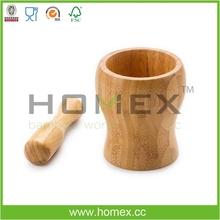 De bambú de ajo de mortero y maja&/masher ajo/homex_fsc/bsci fábrica