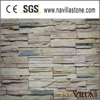 slate cultural stone with various color decor stones