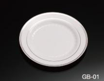 6.2inch eco friendly plastic nice disposable plates for party (ps)