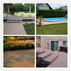 Waterproof patio flooring, wood plastic patio floors, WPC patio floor coverings