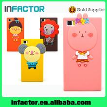 Mobile phone protective silicon cover case for Xiaomi Mi 3