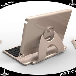 Luxuious Gold 360 Degree Rotation Case Bluetooth wireless keyboard For iPad air