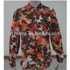 Latest fashion ladies long sleeve model of chiffon blouse