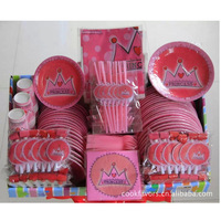 2014 birthday disposable cups plates spoons and plates