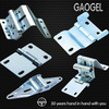 OEM custom zinc powdering auto furniture pivot stainless steel sheet metal hinge