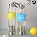 ( asb3025) 500ml/16.89oz frasco de vidro com chá de filtro/calor- resistente fina de borosilicato frasco de vidro transparente de água