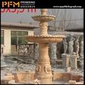 hot vente 2014 en marbre naturel sculpté à la main en résine ange fontaine en plein air