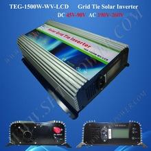 High Quality 1.5KW Solar Panel Power Inverter Price, MPPT Solar On Grid Pure Sine Wave Inverter 1500W DC 45V-90V Input