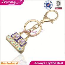 Personalized Jewelry Factory New Fashion Bling Bling Rhinestone Handbag Keychain