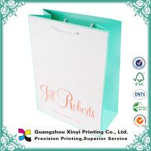 Pantone color printing brown kraft paper bag for shopping