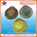 Gold silver bronze, paille, fonte. eau médaille avec le logo