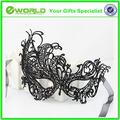 elegante para mujer de encaje máscaras ojos bordados de mariposa recorte del velo blanco de fiesta