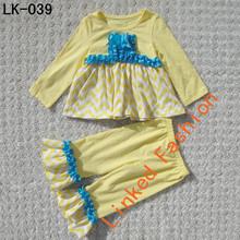 Long sleeve dress cute wave point dress princess girls dress