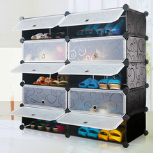 Black10 cubes shoes racks organizers with plastic material,each cube stands for 10 kg(FH-AW0151012-10)